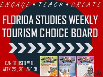 Florida Studies Weekly Tourism Choice Board