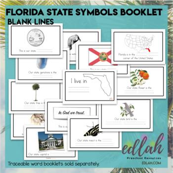Florida State Symbols Booklet Blank Lines By Melissa Schaper Tpt