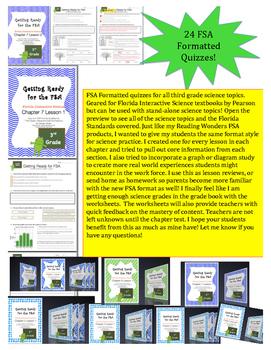 """Florida Third Grade Science FSA Prep - Pearson """"Interactiv"""