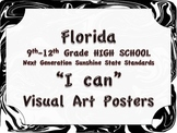 Florida Visual Arts High School HS 9-12 Grade NGSSS Standards Posters