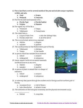 Florida Vocabulary Quiz