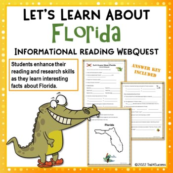 Florida Webquest Internet Reading Research Scavenger Hunt