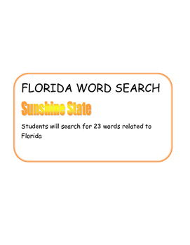 Florida Word Search