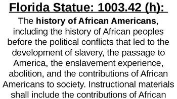 Florida World History 9-12 Standards/Benchmarks