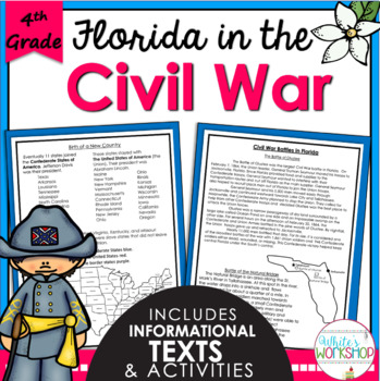 Florida History: The Civil War Text and Activities