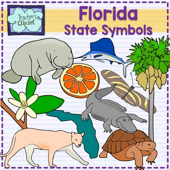 Florida state symbols clipart