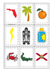 Florida themed Memory Matching and Word Matching preschool curriculum game.