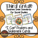 """Florida's Sunshine State Standards -Third Grade Social Studies - """"I Can"""" Posters"""