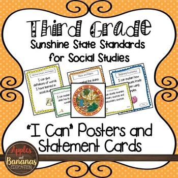 Florida's Sunshine State Standards -Third Grade Social Stu