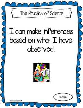 """Florida's Sunshine State Standards for Third Grade Science - """"I Can"""" Posters"""