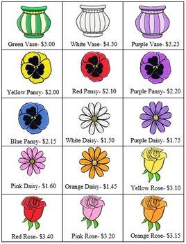 VOCATIONAL TASK Florist