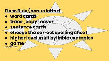 Floss Bonus Letter Rule Activities