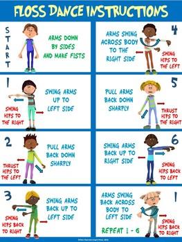 Floss Dance Poster Bundle: 10 Fun Visuals (with Bonus Instructional Poster)