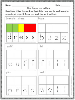 Orton-Gillingham Spelling Rules: Floss Rule FLSZ Multisensory Practice