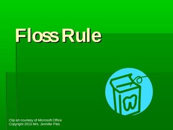 Floss Rule Phonics PPT or Flipchart