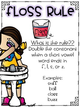 Floss Rule-Spelling Unit