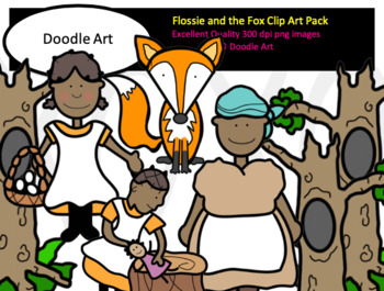 Flossie and the Fox Clip Art Pack