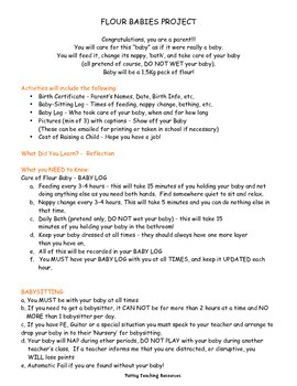 Flour Babies Project Learning Reading Log