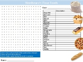 Flour Foods Wordsearch Sheet Starter Activity Keywords Cover Food Technology