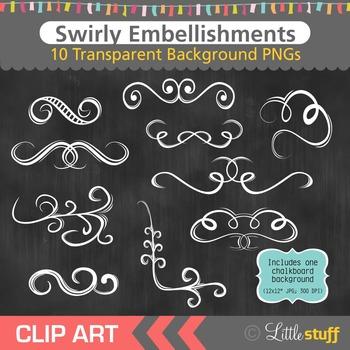 Flourish Clipart, Swirly Flourishes Clip Art