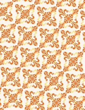 "Flourish Ornament Pattern in Fall Colors - Dual Pack - 8.5"" x 11"" and 12"" x 12"""