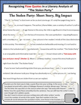 the stolen party analysis