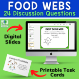 Food Webs   Producers and Consumers Question Prompt Activi