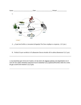 Flow of Matter Test- Spanish Translation