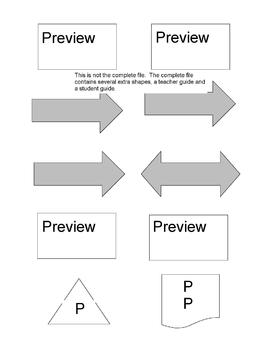 Flowchart and Concept Map Cut Outs