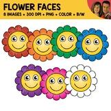 Flower Face Clipart