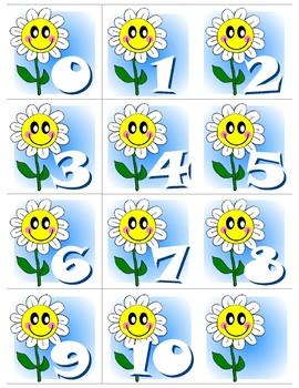 Flower 0-10 Number Cards