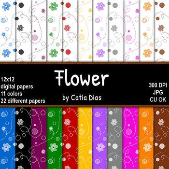 Flower - 22 Digital Papers