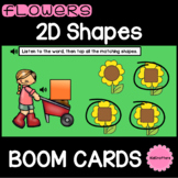 Flower 2D Shapes Match BOOM CARDS™ Distance Learning