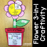 Flower 3-in-1 Craft: Parts of a Flower, Flower Life Cycle