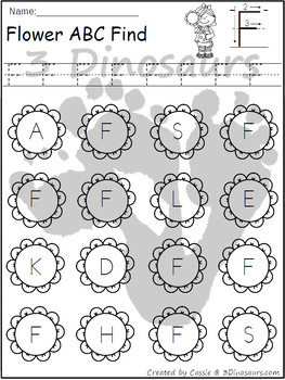 Flower ABC Letter Find