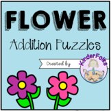 Flower Addition Puzzles- Addition to 10