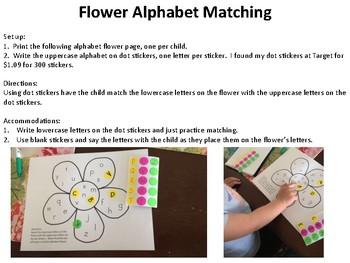 Flower Alphabet Matching