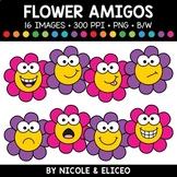 Spring Flower Faces Amigos Clipart