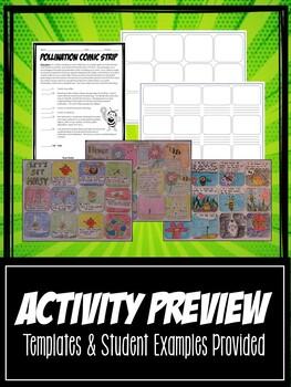 Flower Anatomy Comic Strip Activity