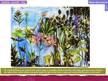 FLOWER ART - as Painted by MAJOR Artists - SHOW + TEST = 234 Slides - FLOWERS