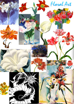 Flower Art ~ Floral Art ~ Major Artists ~ FREE POSTER ~ Art History