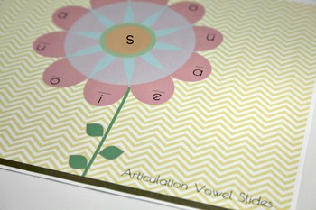 Flower Articulation Placemats - Vowel Slides- All Sounds
