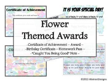 Flower Awards Set