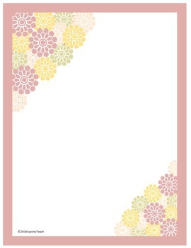 Flower Background for Letters