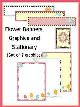 Flower Banners, Graphics and Stationary Backgrounds