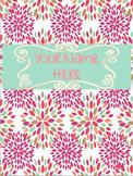 Flower Binder Cover - Lesson Plans