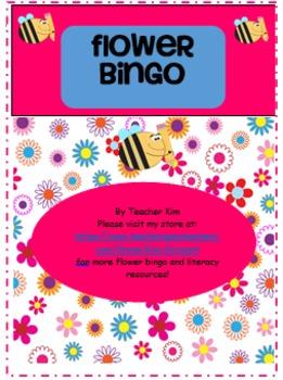 Flower Bingo Alphabet Letter Names and Sounds Bundle