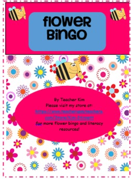 Flower Bingo Alphabet Letter Names and Sounds Bundle