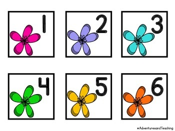 Flower Blooms Calendar Numbers