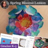 Spring Flowers Art Lesson; Radial Symmetry Spring blooms Art Lesson